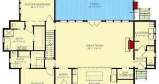Plan 130026LLS: Split bed Exclusive farmhouse with bonus room