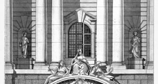 Elevation of the main entrance of the new Sessions House for the Corporation of ...