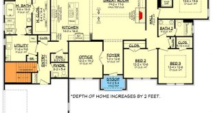 Plan 51795HZ: One-Story Living 4-Bed Texas-Style Ranch Home Plan