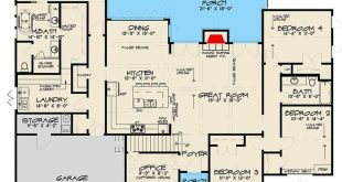 Plan 70575MK: Modern French Country House Plan With Optional Upstairs Game Room